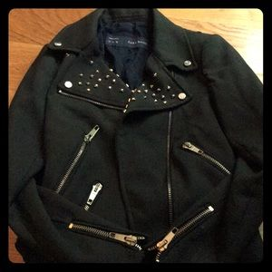 Dark green studded jacket